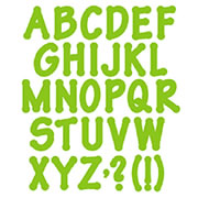 Lollipop Shadow Capital Letters - 4 Inches