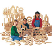 Wooden Unit Blocks - 45 Pcs