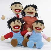 Asian Family Puppet Set