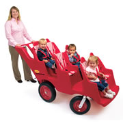Fat Tire Bye-Bye Buggy - Red 6 Seat