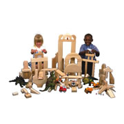 Wooden Unit Blocks - 170 Pcs