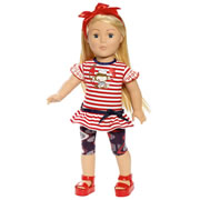 "Favorite Friends 18"" Blonde Doll - Monkey Love"