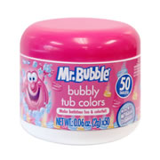 Mr. Bubble® 50 Count Bubbly Tub Colors