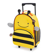 Zoo Kids Rolling Luggage - Bee