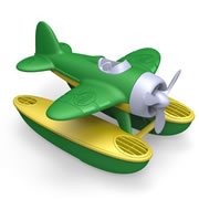 Seaplane with Green Wings