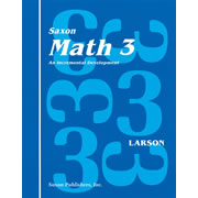 Saxon Math 3 Home Study Kit (First Edition)