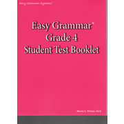 Easy Grammar Grade 4 Test Book