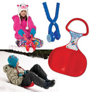 Snow Scoot Sled and Snowball Maker