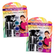 Glam Rock Glitter Tattoo Set