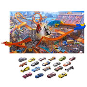 Hot Wheels® Mid Air Madness Wall Track plus 20 Extra Cars