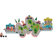 Racing Magnetic Wall Decoration and track