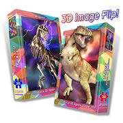 2-in-1 T-Rex 3-D Jigsaw Puzzle - 300 Piece