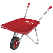 Little Red Metal Wheelbarrow