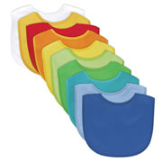 Waterproof Absorbent Bib 10 Pack (Boy's Set)