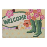 Jellybean Rug - Welcome Garden Boots (C) - Washable