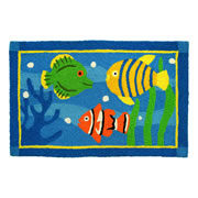 Jellybean Rug - Fish Swimming in Coral (C)