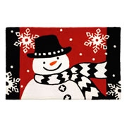 Jellybean Rug - Snowman With The Scarf © - Washable