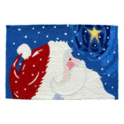 Jellybean Rug - Star Gazing Santa - Washable