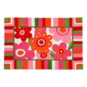 Jellybean Rug - Cotton Candy Blooms (C) - Washable