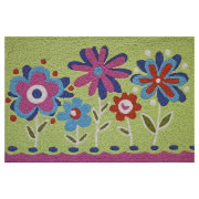 Jellybean Rug - Pop Flowers (C) - Washable