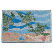 Jellybean Rug - Turtle Swimming - Washable