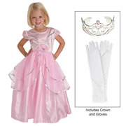 Royal Pink Dress & Accessories