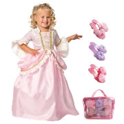 Pink Parisian Dress Size Medium (3-5 years) with Bonus Dress-up Shoes