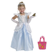 Cinderella Dress Size Large (5-7 years) with Bonus Pink Purse