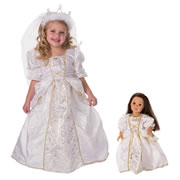 Bride Dress & Veil with Matching Doll Dress