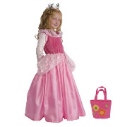 Sleeping Beauty Dress Size Large (5-7 years) with Bonus Pink Purse