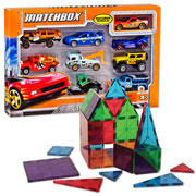 Magna-Tiles® Clear Colors 32 piece & Cars Set