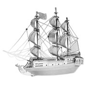 Metal Works 3-D Laser Cut Models - Black Pearl Ship