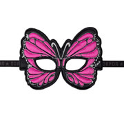 Pink Monarch Butterfly Mask