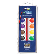 Prang Oval Pan Washable Watercolor Set 16 Color with Brush