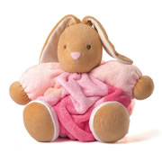 Large Patchwork Chubby Rabbit - Pink