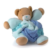 Large Patchwork Chubby Bear - Blue