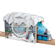 Wooden Railway Snow Tunnel
