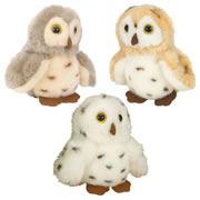 Plush Spotted Owls - Set of 3