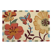 JellyBean® Rug - Flitting Butterfly - Washable