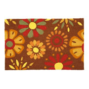 JellyBean® Carpet - Fanciful Flowers - Washable