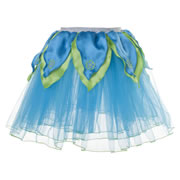 Tutu Skirt - Aqua Blue with Green Petals (Medium)