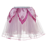 Tutu Skirt - Light Pink with Hot Pink Petals (Medium)