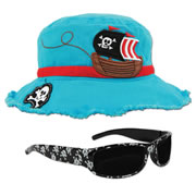 Young Child's Pirate Hat & Matching Sunglasses
