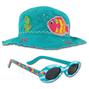 Young Child's Fish Bucket Hat & Matching Sunglasses