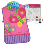 Butterfly Apron & Canvas Craft Set