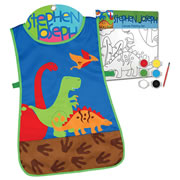 Dinosaur Apron & Canvas Art Set