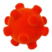 "Rubbabu™ 6"" Naval Mine Ball - Orange"
