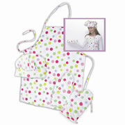 Polka Dot Apron Set