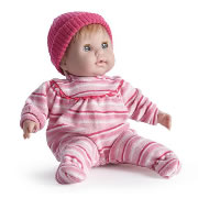 "Berenguer Soft Body Baby Doll 15"" with Pink Stripe Outfit"