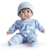 "Berenguer Soft Body Baby Doll 15"" with Blue Stripe Outfit"